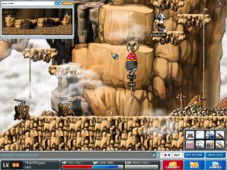 Maplestory-climbing-and-exploring